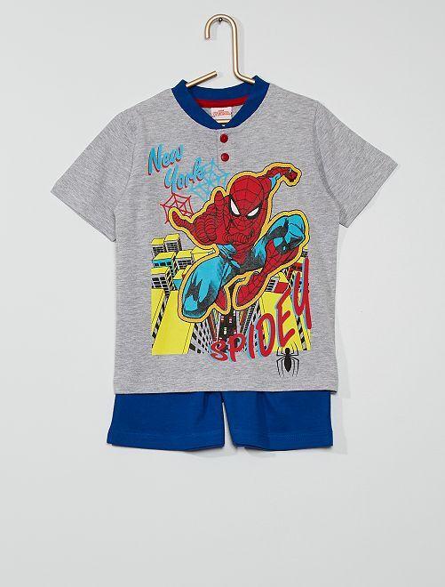 Pijama corto 'Spider-Man' de 'Marvel'                                         gris/azul