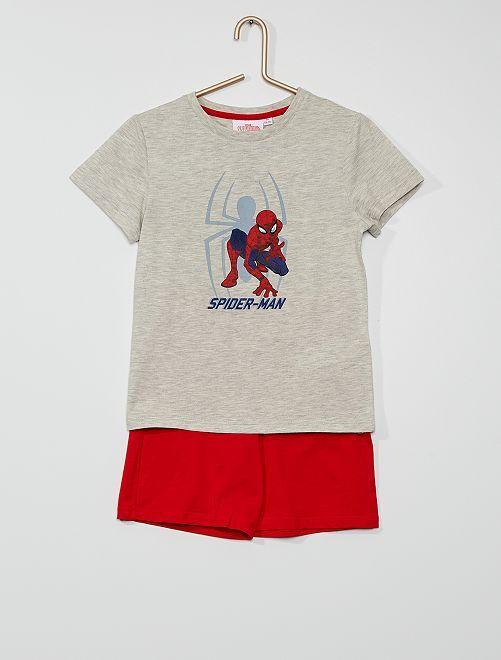 Pijama corto 'Spider-Man'                             gris/rojo