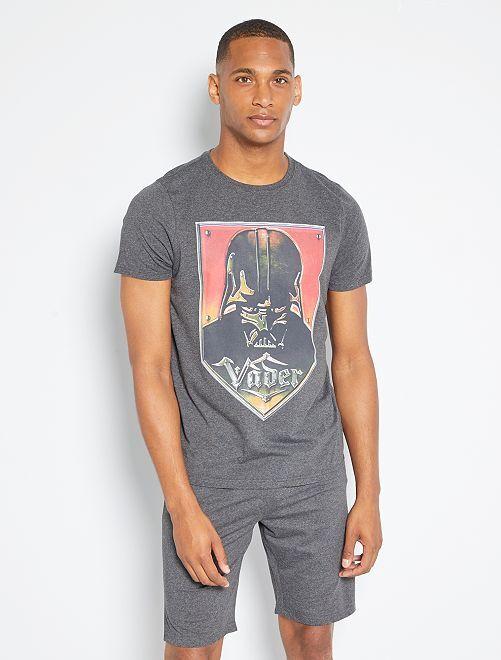 Pijama corto 'Star Wars'                                         gris/negro