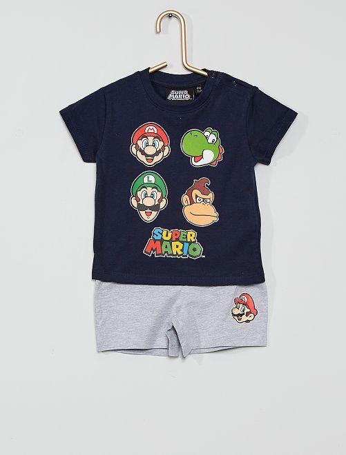Pijama corto 'Super Mario'                             NEGRO