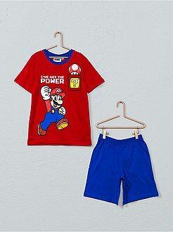 Pijamas - Pijama corto 'Super Mario' - Kiabi