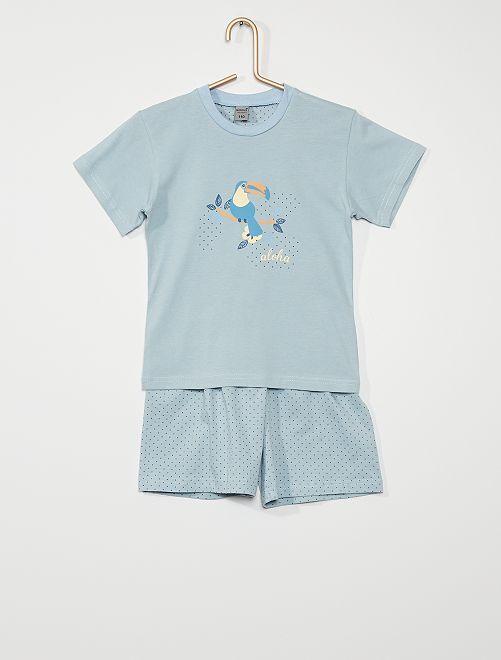 Pijama de 2 piezas 'aloha'                                         azul
