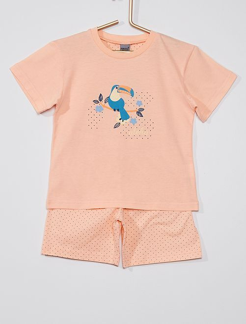 Pijama de 2 piezas 'aloha'                                         rosa