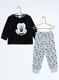 Niño 0-36 meses Pijama de 2 piezas de terciopelo 'Mickey'