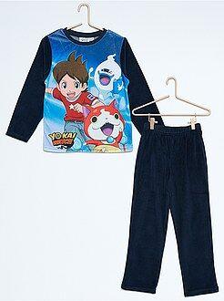 Niño 3-12 años Pijama de 2 piezas de terciopelo 'Yo-Kai Watch'
