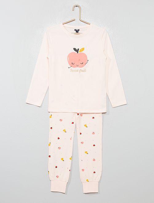 Pijama de 2 piezas estampado 'fruta'                                         ROSA