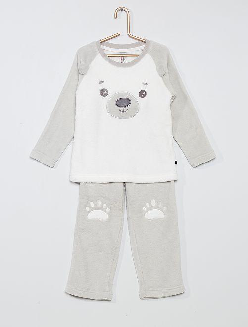 Pijama de 2 piezas 'oso'                                         crudo/gris