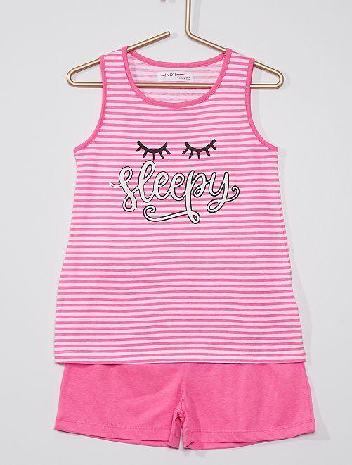 Pijama de 2 piezas 'Sleepy'                             rosa