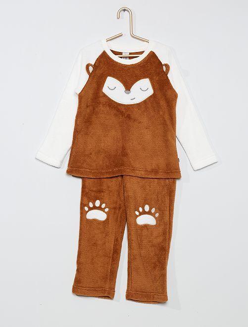 Pijama de 2 piezas 'zorro'                                         crudo/marrón
