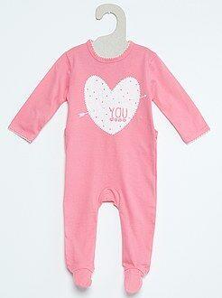 Pijama de algodón con estampado de fantasía
