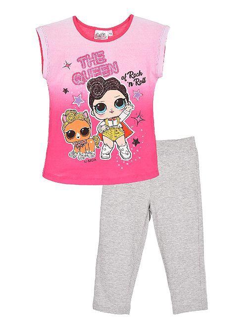 Pijama de algodón 'Lol Surprise'                                         fucsia