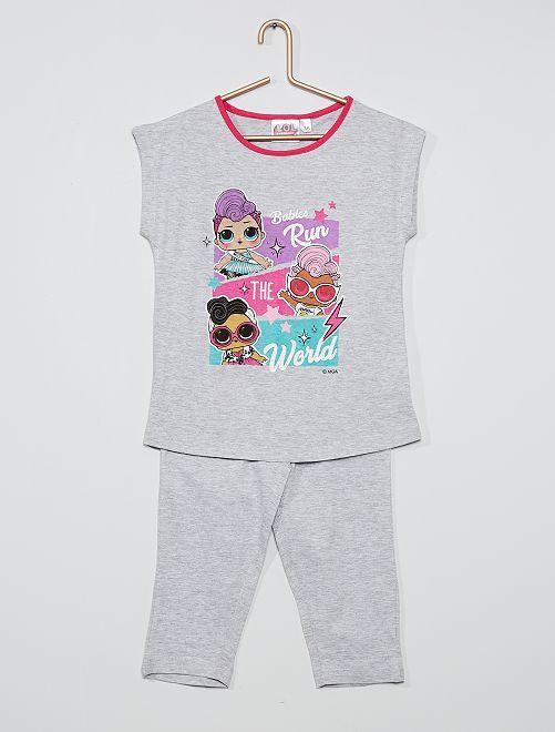 Pijama de algodón 'Lol Surprise'                                         gris chiné