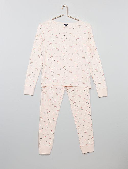 Pijama de algodón puro                                                                             AMARILLO Chica