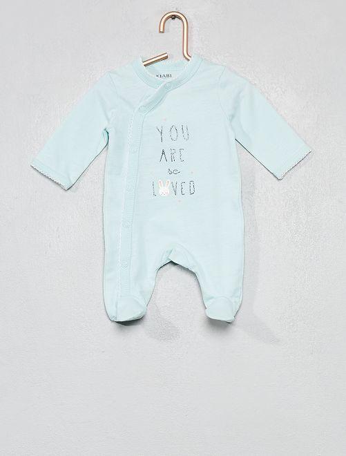 Pijama de algodón puro                                                                 AZUL Bebé niña