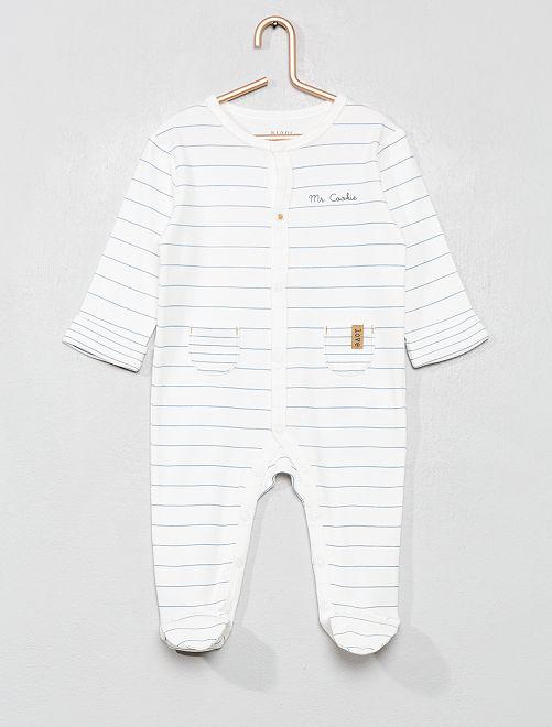Pijama de algodón puro                             BLANCO