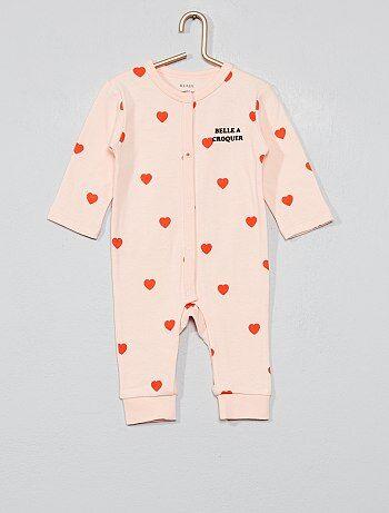 7cf9a4c4e Pijama de algodón puro  corazón  - Kiabi