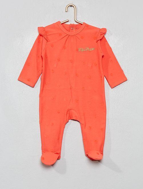 Pijama de algodón puro de lunares                             ROSA