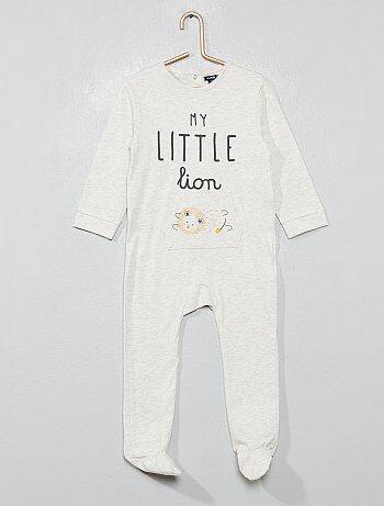 f539340aedd Niño 0-36 meses - Pijama de algodón puro  león  - Kiabi