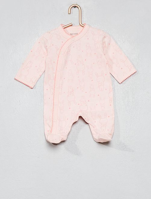 Pijama de algodón puro                                                                 ROSA Bebé niña