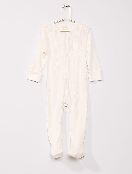 Pijama de canalé 'eco-concepción'                             BLANCO