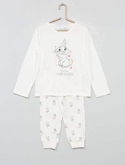 Pijama de 'conejo' de punto 'Disney'                             ROSA