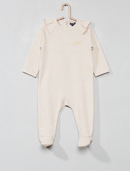 Pijama de felpa con volantes                             ROSA Bebé niña