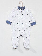 Pijama de felpa estampado