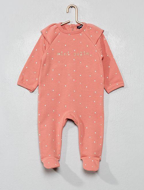 Pijama de felpa suave y cálida                                         ROSA
