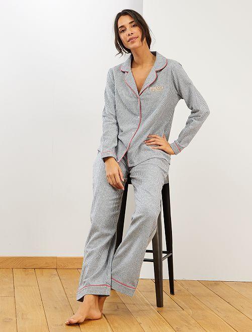 Pijama de franela                             AZUL