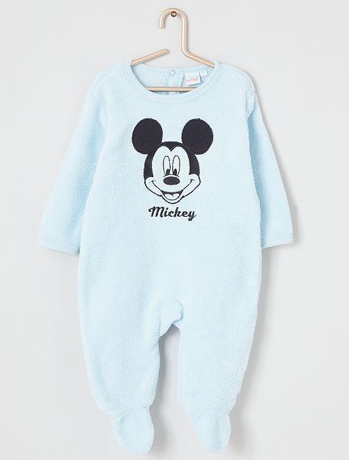 Pijama de 'Mickey' de terciopelo                                         AZUL