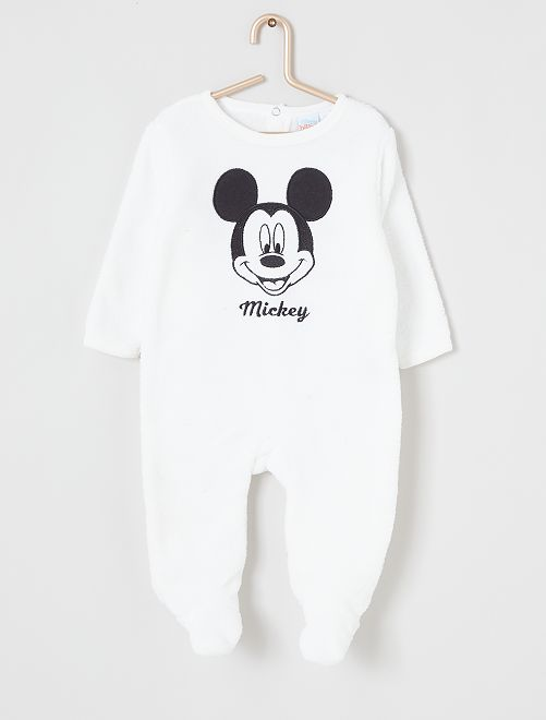 Pijama de 'Mickey' de terciopelo                                         crudo