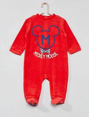 237daa184 Niño 0-36 meses - Pijama de 'Mickey' de terciopelo - Kiabi