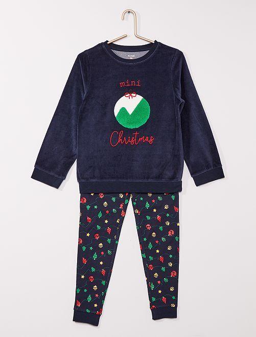 Pijama de Navidad                             marino