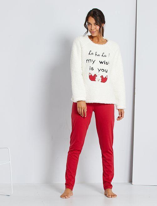 Pijama de Navidad                             rojo/crudo
