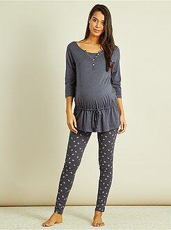 Lactancia, embarazo - Pijama de premamá con top de lactancia integrado - Kiabi