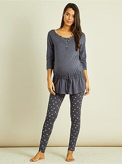 Premama - Pijama de premamá con top de lactancia integrado - Kiabi