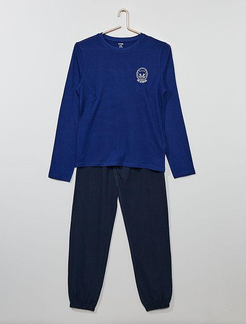 Pijama de punto                             AZUL