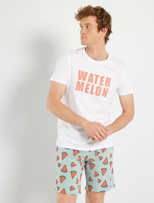 Pijama de punto                     BLANCO