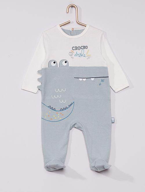 Pijama de punto 'cocodrilo'                             AZUL