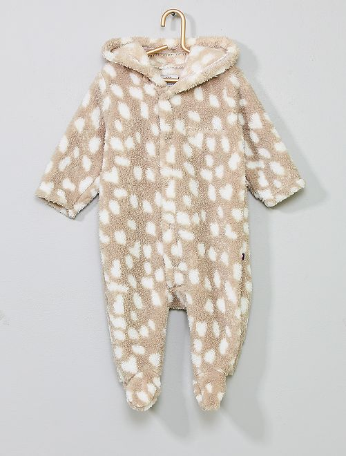 Pijama de punto de felpa                                         beige