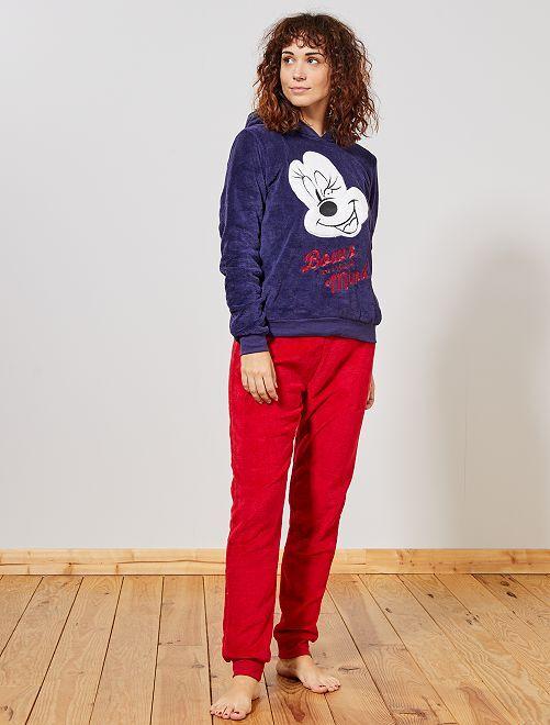 Pijama de punto de felpa 'Minnie'                                         AZUL