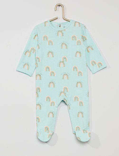 Pijama de punto 'eco-concepción'                                                                                                                                                                                                                                                                 arco iris