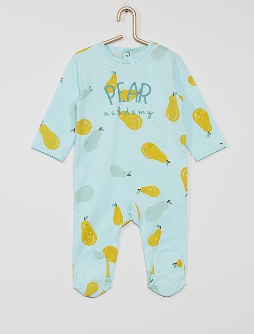 Pijama de punto 'eco-concepción'                                                                                                                                                                                                                                                                 AZUL
