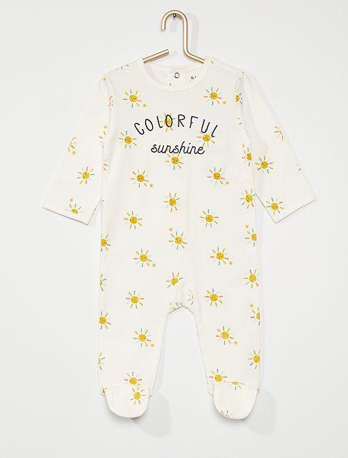 Pijama de punto 'eco-concepción'                                                                                                                                                                                                                                                                 BLANCO