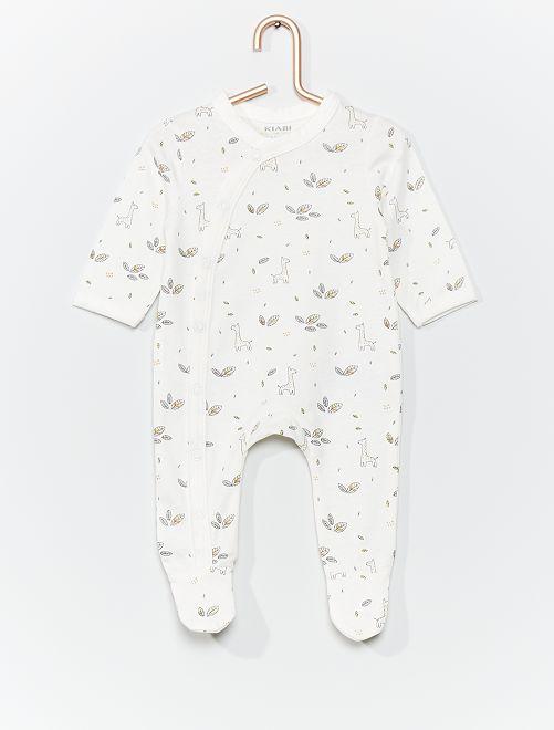 Pijama de punto eco-concepción                                                                                         BLANCO