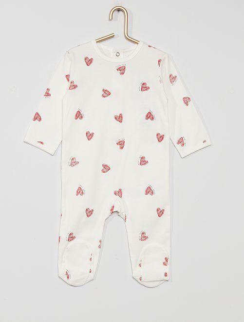 Pijama de punto 'eco-concepción'                                                                                                                                                                                                                                                                 BLANCO corazón