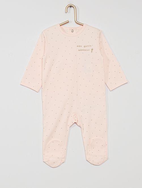 Pijama de punto 'eco-concepción'                                                                                                                                                                                                                                                                 BLANCO puntos