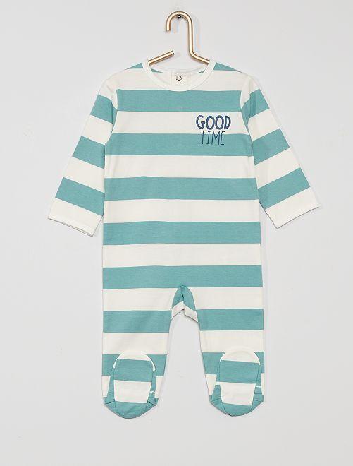 Pijama de punto 'eco-concepción'                                                                                                                                                                                                                                                                 BLANCO/azul