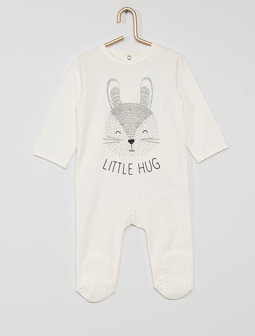 Pijama de punto 'eco-concepción'                                                                                                                                                                                                                                                                 conejo