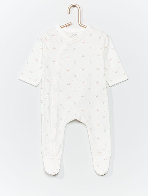 Pijama de punto eco-concepción                                                                                         estampado flores